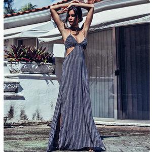 """d6ba9767f73 Indah Dresses - Indah """"Blaze"""" cutaway maxi dress with smock top"""